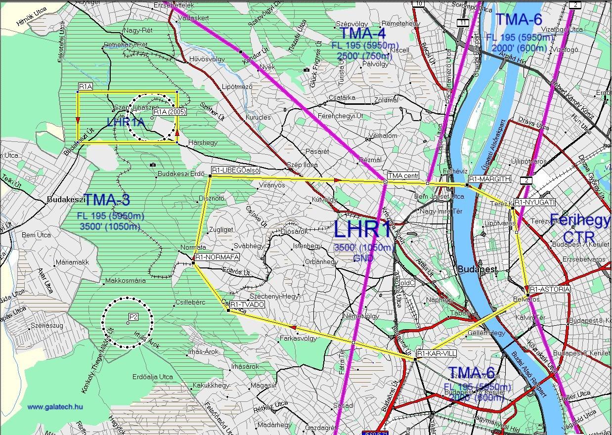 budapest szintvonalas térkép Bp TMA 2007.05.10 től budapest szintvonalas térkép